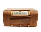 Vintage Hoffman Tube Radio Model A 300 1946 Wooden Cabinet Tabletop Works