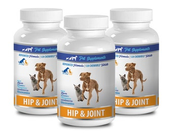 dog bone care - Hip And Joint - Health And Support - For Dogs And Cats - chondroitin dog - 3 Bottle (360 Chews)