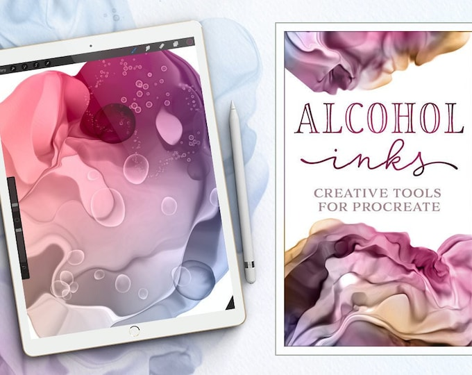 Alcohol Inks for Procreate - Brushes and Techniques