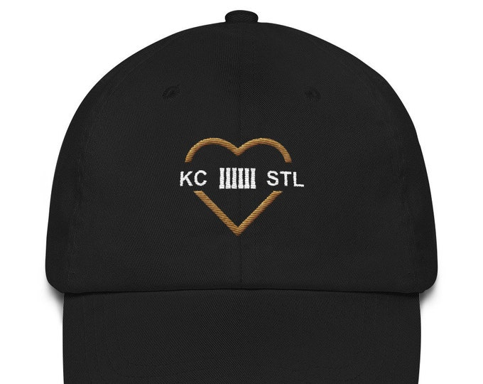 MO Love Black and Gold Dad hat