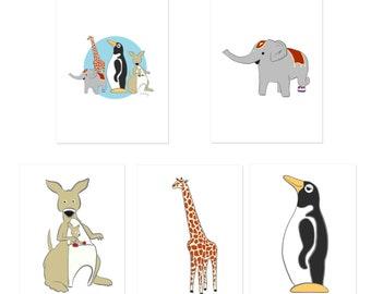 Penguin Park Stickers (5-Pack)