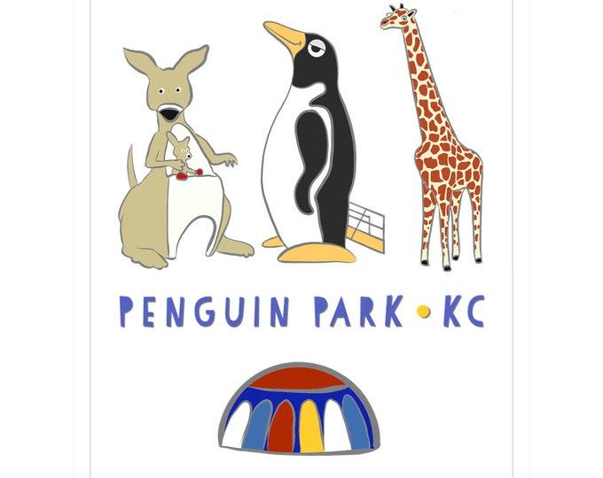 Penguin Park KC Magnet