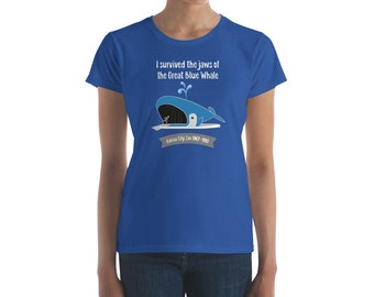 I Survived the Great Blue Whale - Women's short sleeve T-shirt