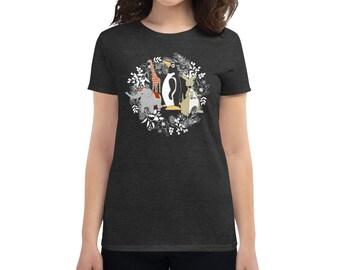 Penguin Park Winter Holiday Women's T-shirt