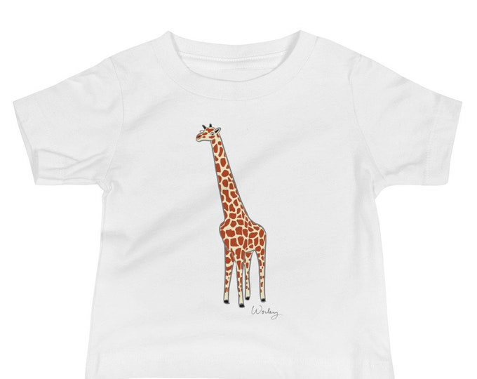 Penguin Park Giraffe Illustration Baby Tee