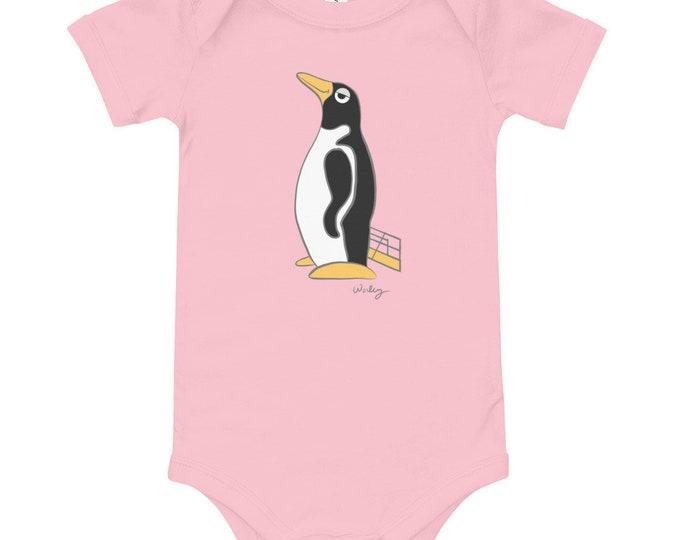 Penguin Park Penguin Illustration Baby's One-Piece