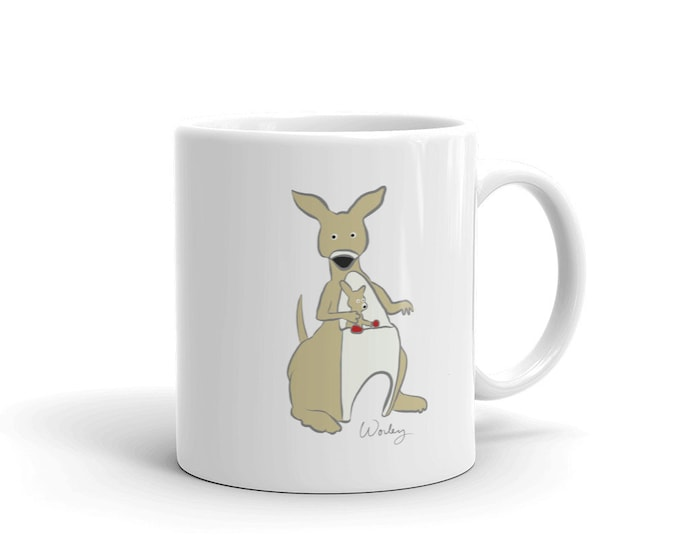 Penguin Park Kangaroo Illustration Mug