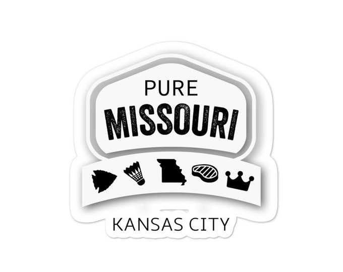 Pure Missouri Kansas City bubble-free stickers