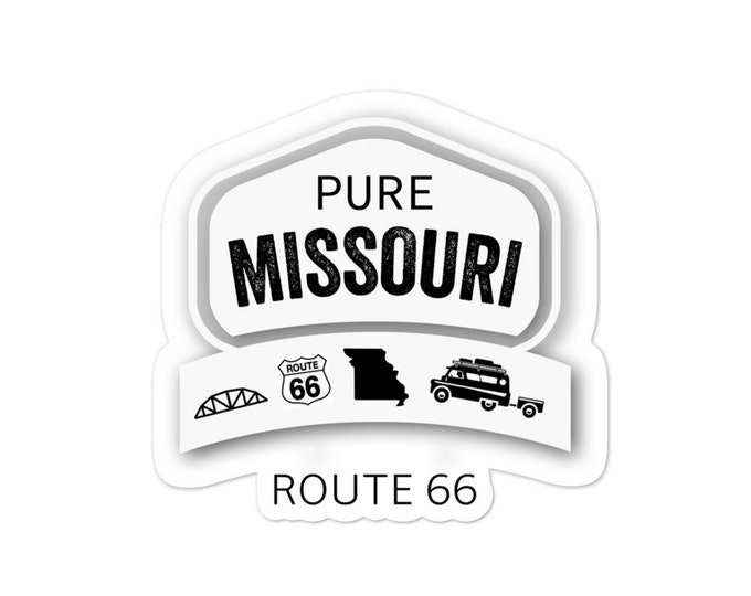 Pure Missouri Route 66 bubble-free stickers