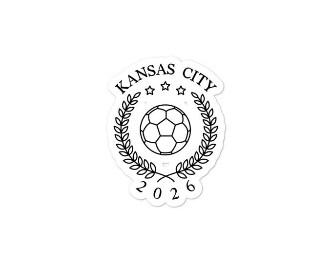 KC Soccer 2026 Kansas City bubble-free stickers