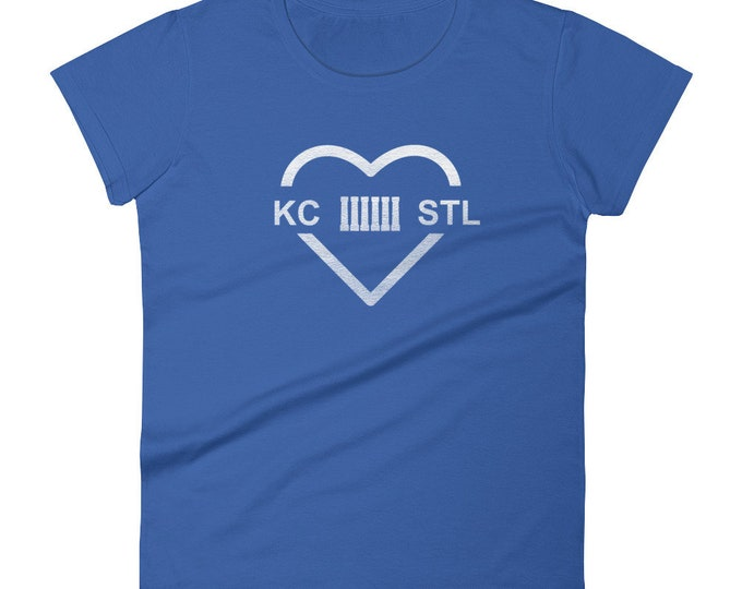 MO Love Blue Columns Women's T-shirt