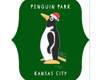 Penguin Park Penguin Metal Ornament