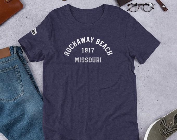 Mo Towns - Short-Sleeve Unisex T-Shirt: Rockaway Beach 1917