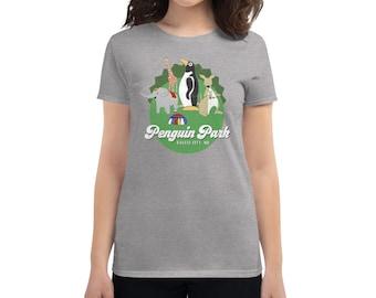 Penguin Park Animals Women's T-shirt