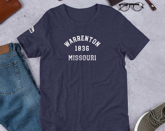 Mo Towns - Short-Sleeve Unisex T-Shirt: Warrenton 1836
