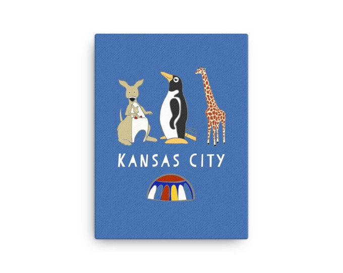 Penguin Park Kansas City Canvas Print