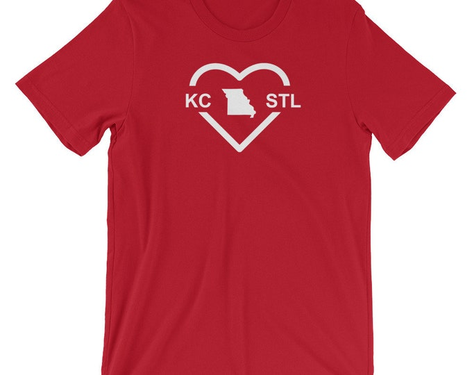 MO Love Red Map Unisex T-Shirt