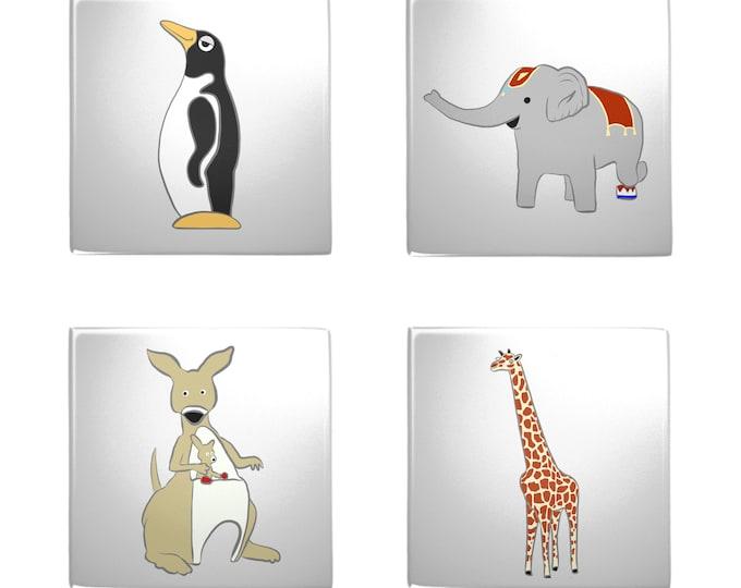 Penguin Park Metal Magnets (4-Pack)