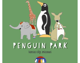 Penguin Park Satin Or Matte Posters