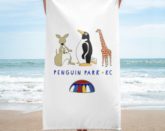Penguin Park KC Beach Towel