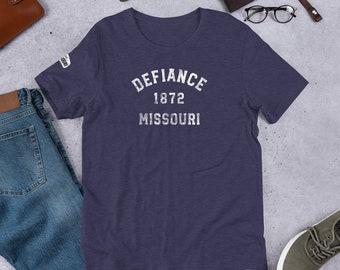 Mo Towns - Short-Sleeve Unisex T-Shirt: Defiance 1872