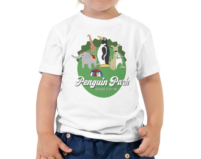 Penguin Park Animals Toddler Tee