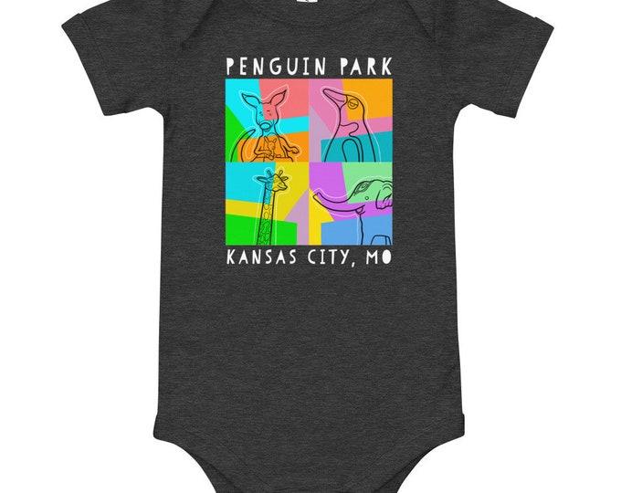 Baby's Penguin Park Fine Art One-piece