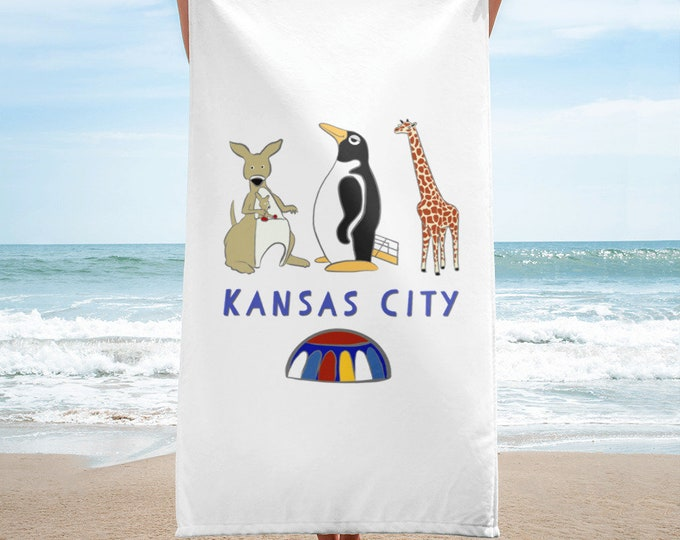 Penguin Park Kansas City Beach Towel