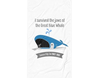 I Survived the Great Blue Whale -  Beach Towel