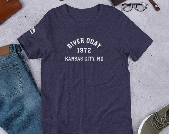 Mo Towns - Short-Sleeve Unisex T-Shirt: River Quay 1972 Kansas City, MO