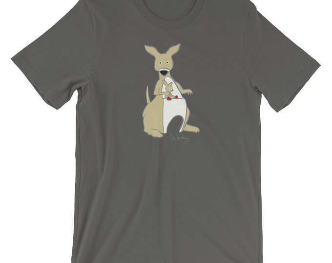 Penguin Park Kangaroo Illustration Unisex T-Shirt