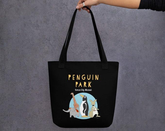 Penguin Park Black Tote bag
