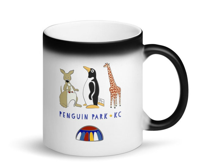 Penguin Park KC - Matte Black Magic Mug