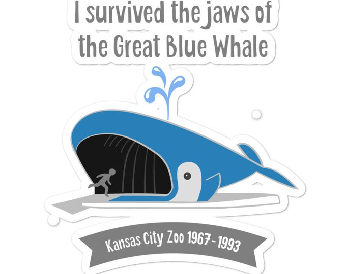KC Zoo Great Blue Whale bubble-free stickers