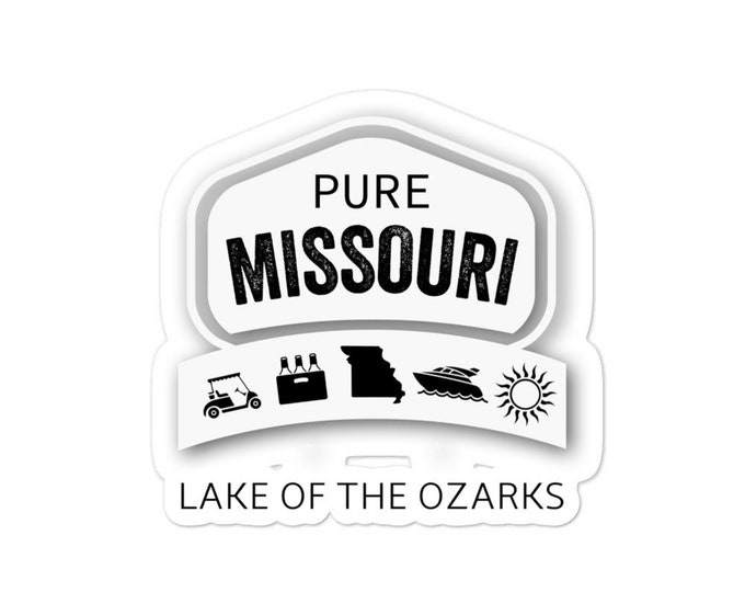 Pure Missouri Lake of the Ozarks bubble-free stickers