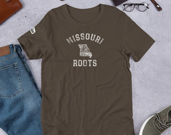 Mo Towns - Missouri Roots - Short-Sleeve Unisex T-Shirt White