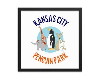 Penguin Park Kansas City Framed Poster II