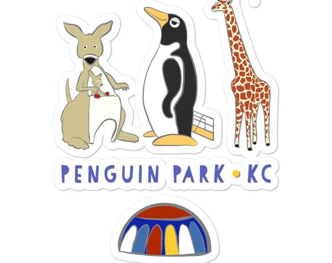 Penguin Park KC bubble-free stickers