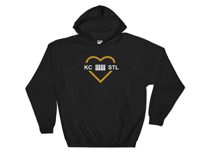 MO Love Black and Gold Hooded Sweatshirt