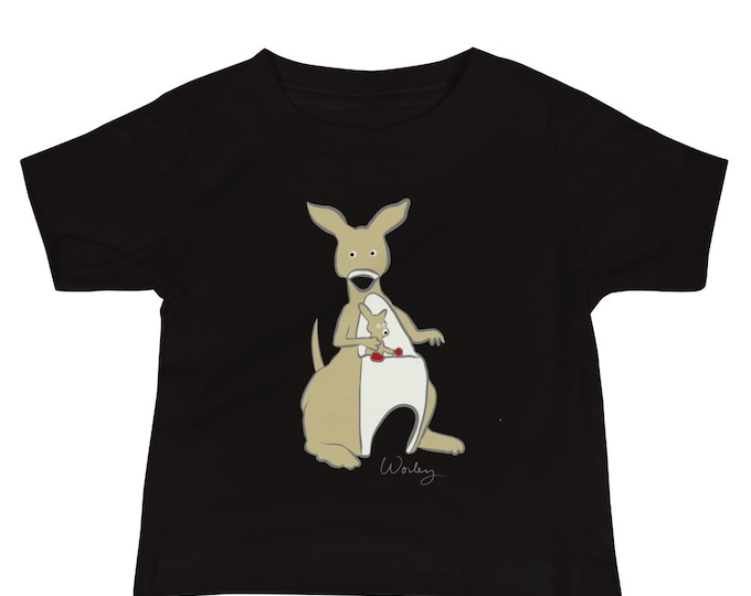 Penguin Park Kangaroo Illustration Baby Tee