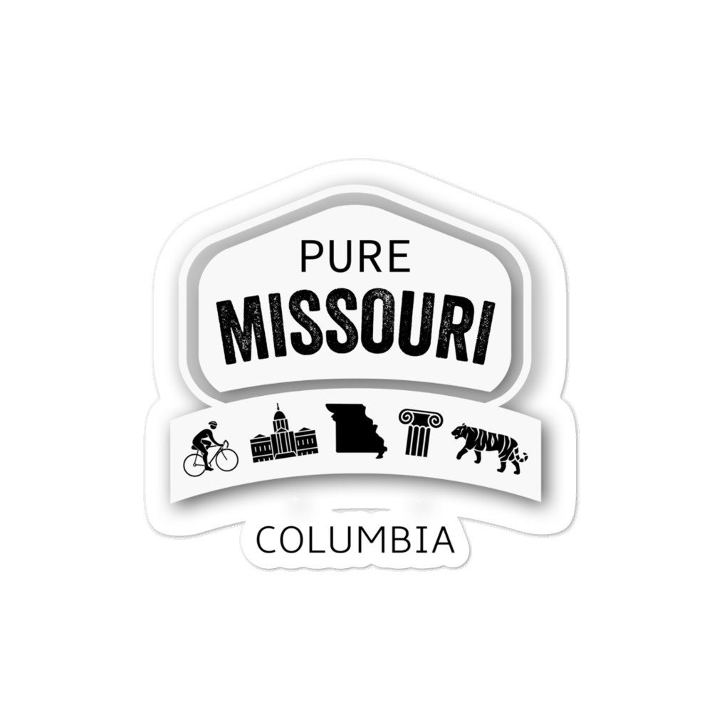Pure Missouri Columbia bubble-free stickers