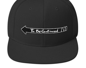 To Be Continued JoJo Snapback Hat    Casual Cosplay Hat d254a84b2c84