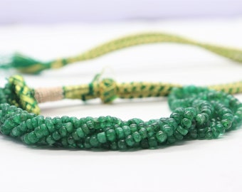 Smooth Emerald Heishi Beads Emerald Beads 8 Inch Strand Heishi Tyer Shape Emerald Beads Natural Emerald Beads 4-5mm AAA Beads