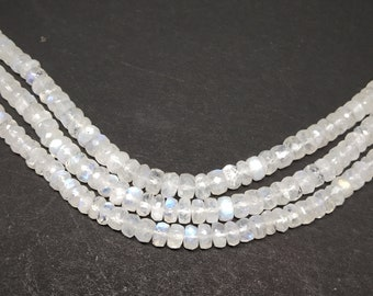 Natural  White Rainbow Faceted Rondelle Beads   Width :-- 5.5-6 mm (approx.)  Length  13.5 inch