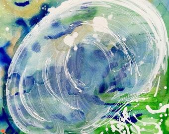 Jellyfish #13 (Original 24X36 Acrylic Painting)