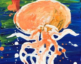 Jellyfish # 20 Original 8x10 Painting