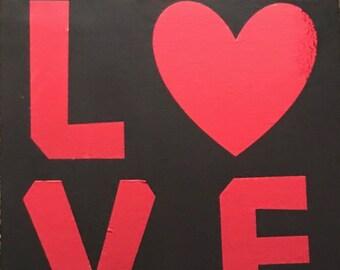 "LOVE — Wall Hanging - 8"" x 10"""