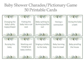 photograph about Charades Printable titled Printable charades Etsy