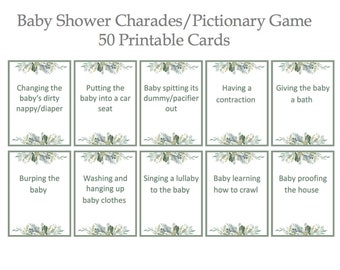 image relating to Printable Charades Cards identify Printable charades Etsy