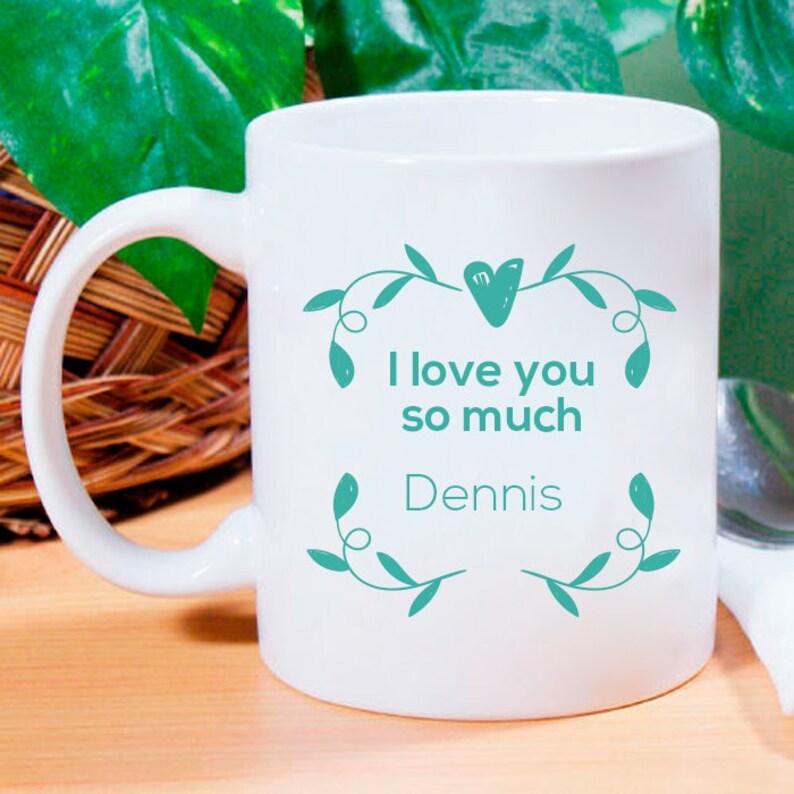 Engraved Valentines Day Mug I Love You So Much Valentines